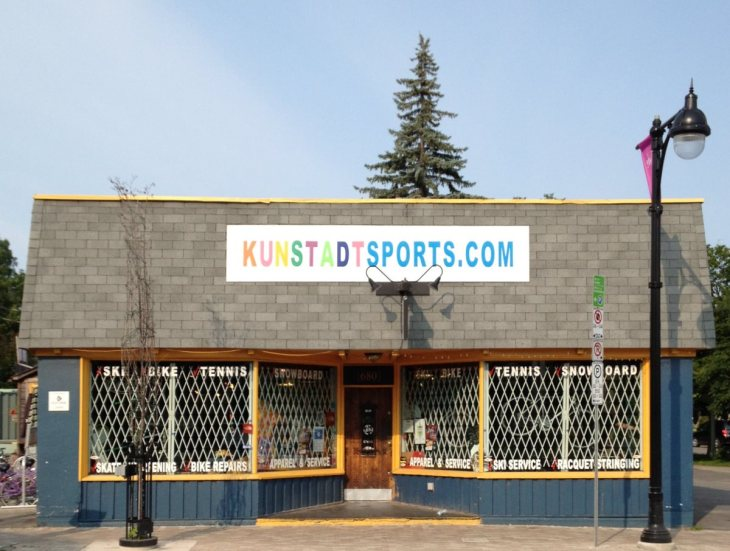 680 Bank Street, currently the home to Kunstadt Sports. Image: July 2014.