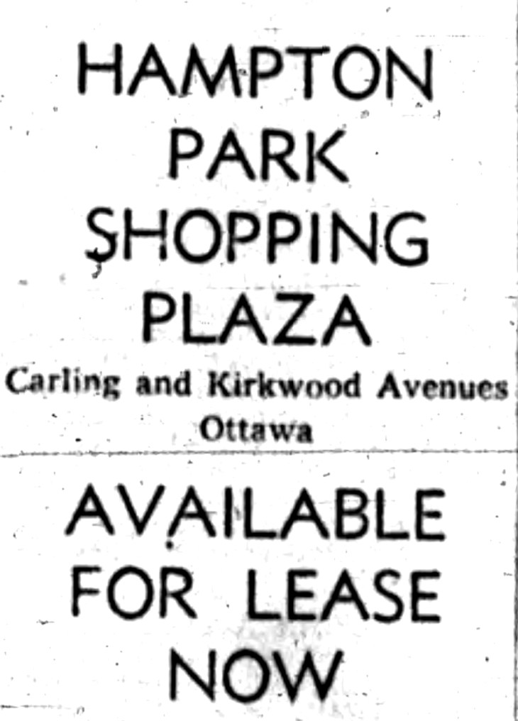 Similar ads were run across the province. Source: Ottawa Journal, April 4, 1960, Page 30.