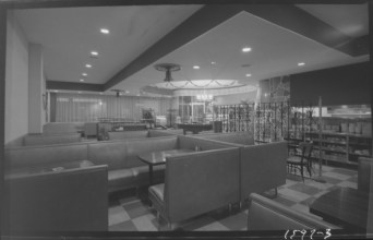 Ted Grant was also hired to shoot Macies Steakhouse and Restaurant. Source: Ted Grant / Library and Archives Canada, Accession 1981-181, Series 61-1597 (December 1961).