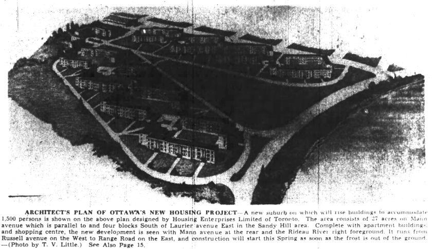 Illustration run in the Ottawa Journal. Source: Ottawa Journal, January 9, 1947, p. 1.
