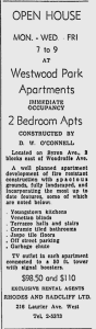 """""""Constructed by D.W. O'Connell"""" Source: Ottawa Citizen, September 6, 1955, p. 42."""