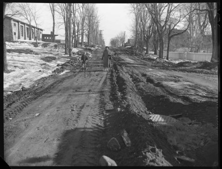 In transition from an area of farmland to suburb, Woodroffe's condition was quite poor at the time. April 5, 1955. City of Ottawa Archives, CA031980.