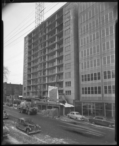 Beacon Arms, February 6, 1956. City of Ottawa Archives, Item CA036716.