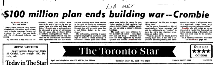 The battle was a long one. Source: Toronto Star, May 30, 1978, p. A1.