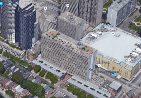 At 22 storeys, the Lexington Condominiums are taller than the 15 originally bargained for. Image: Google Maps.