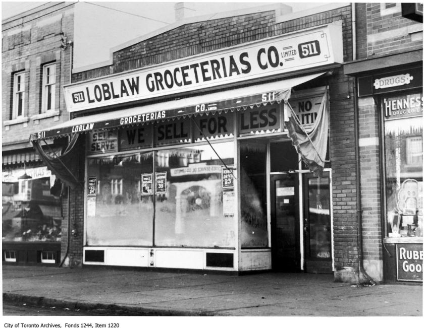 First Loblaws store in Toronto, 511 Yonge Street. - [ca. 1919]