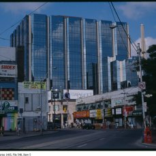 Atrium, while a much smaller development than originally envisioned, still made its presence known at Yonge and Dundas. Image: City of Toronto Archives, Fonds 200, Series 1465, File 548, Item 5.
