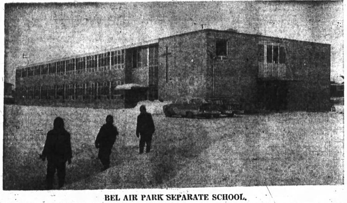 Yves Fortin's 16-room Separate School at Bel-Air Park. Source: Ottawa Journal, January 5, 1960, p. 12.