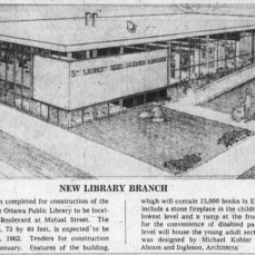 Kohler's St. Laurent Branch of the Ottawa Public Library. Source: Ottawa Journal, December 19, 1961, p. 44.