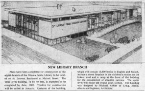 Kohler's St. Laurent Branch of the Ottawa Public Library. Source: Ottawa Journal, December 19, 1961, p. 44.