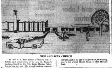 St. Richards. Source: Ottawa Journal, April 19, 1962, p. 13.