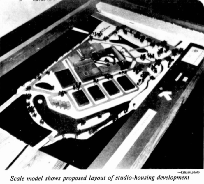Athans pulls out the big guns: a scale model. Source: Ottawa Citizen, October 22, 1980, p. 3.