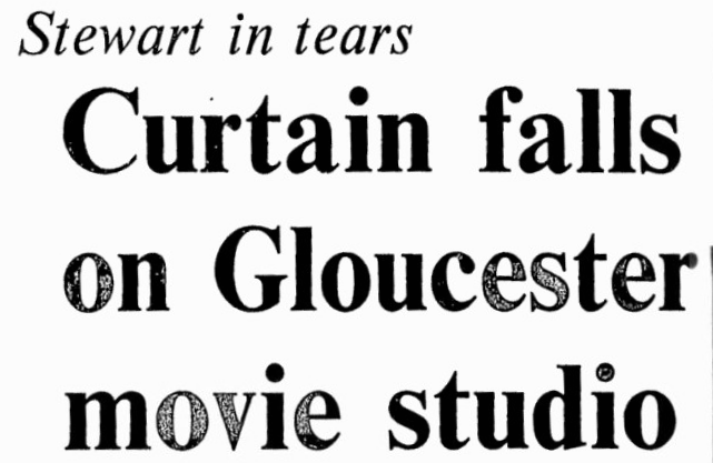 And it's curtains. Source: Ottawa Citizen, November 27, 1980, p. 1.