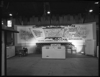 Company display at the Ottawa Home Show, April 14, 1955. Image: City of Ottawa Archives CA-32095.