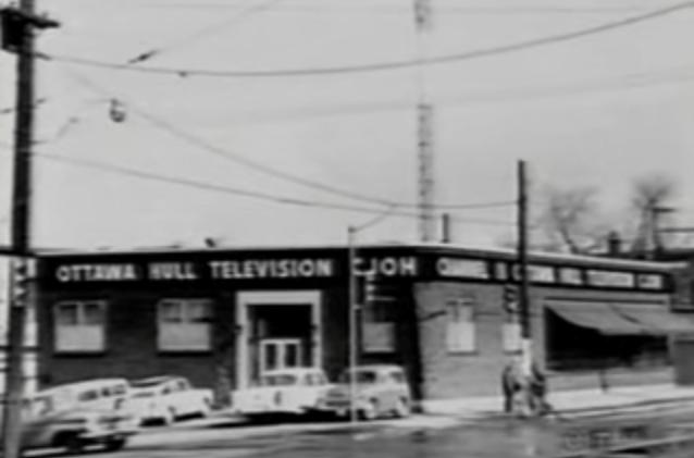 "CJOH's original (temporary) location, at Somerset West and Bayswater. Image: CTV Ottawa ""50th Anniversary Flashback"" (2011)"