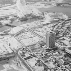 Phase I, Exterior View. December 16, 1973. Image: Hans Blohm / LAC Accession 1983-074 NPC, Box 05503, Item 2169-12.