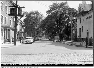 Jameson, looking south from Queen. Image: City of Toronto Archives, Fonds 200, Series 372, Subseries 58, Item 2086.
