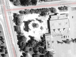 St. Elijah's (Elias) was constructed between 1990 and 1992. This aerial photo, taken in 1991, shows work in progress. Image: geoOttawa.