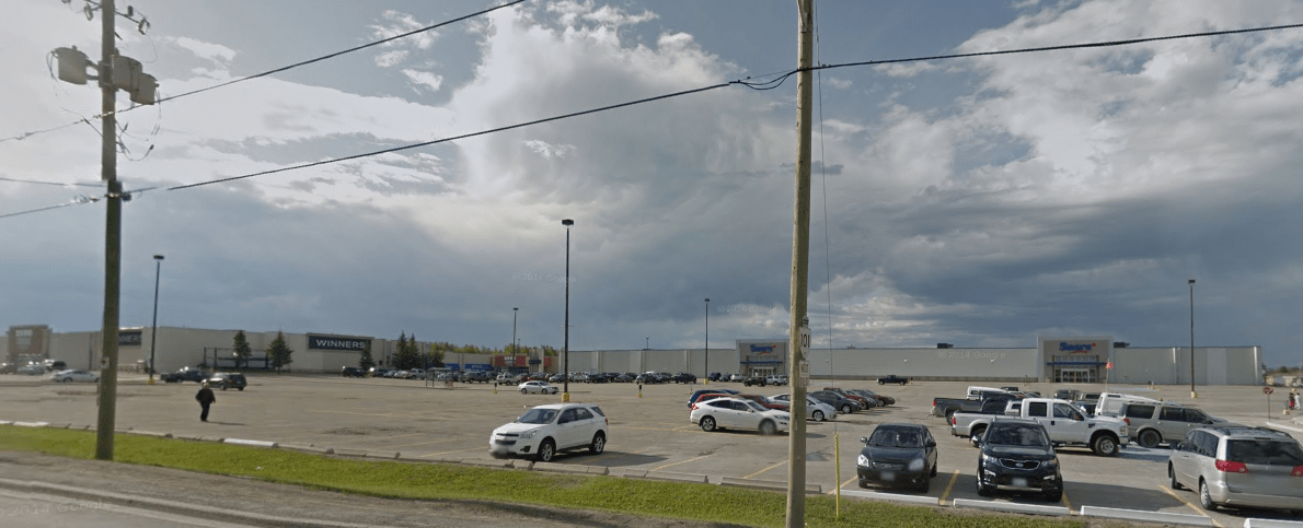 Timmins Square from Highway 101. Image: Google Maps (2012)