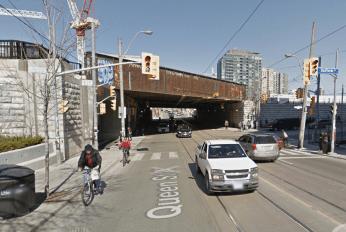 Queen Street subway in 2014. Image: Google Maps, April 2014.