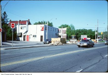 Dundas West near Coxwell, 1980s. Source: City of Toronto Archives, Fonds 200, Series 1465 File 191, Item 16.
