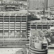 Atrium on Bay under construction in 1981. Image: Boris Spremo / Toronto Star / Toronto Public Library, Baldwin Collection, Item TSPA 0110166f.