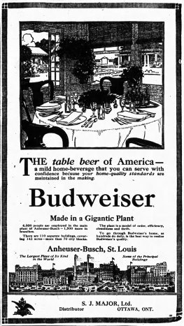 Part of the S.J. Major success was beer distribution. Source: Ottawa Journal, April 24, 10.
