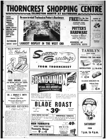 Better late than never. Source: Etobicoke Guardian, November 29, 1956, 7.