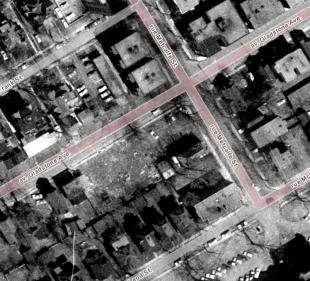 Landis assembled the lots. Image: geoOttawa, 1965.