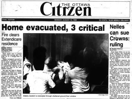 Source: Ottawa Citizen, August 14, 1989, A1.