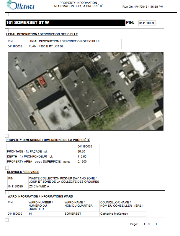 When you click on an individual lot and view details, you not only get the legal description, you also get the searchable PIN.