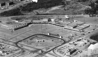 Dartmouth Shopping Centre, 195?. Image: City of Dartmouth Planning and Development photographs Halifax Municipal Archives 101-80C-1-3-18.