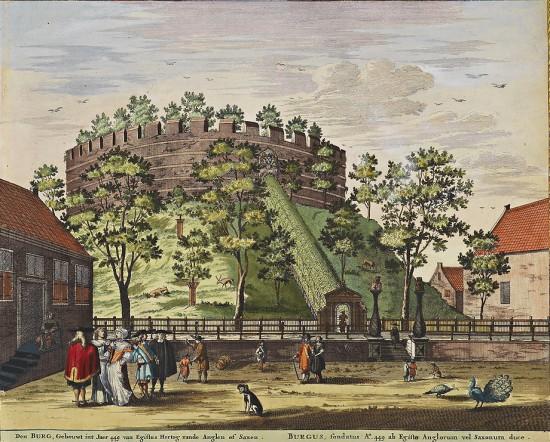 Castle of Leiden in a 1698 print