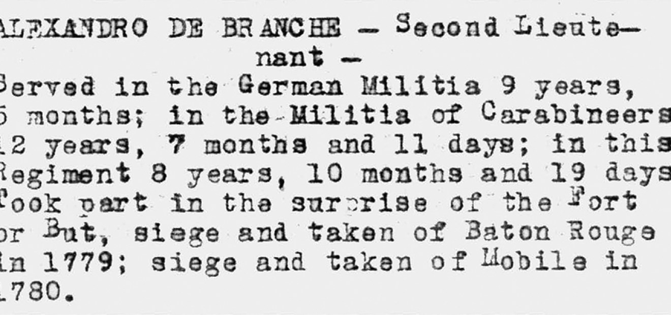 Military Records of LaBranche