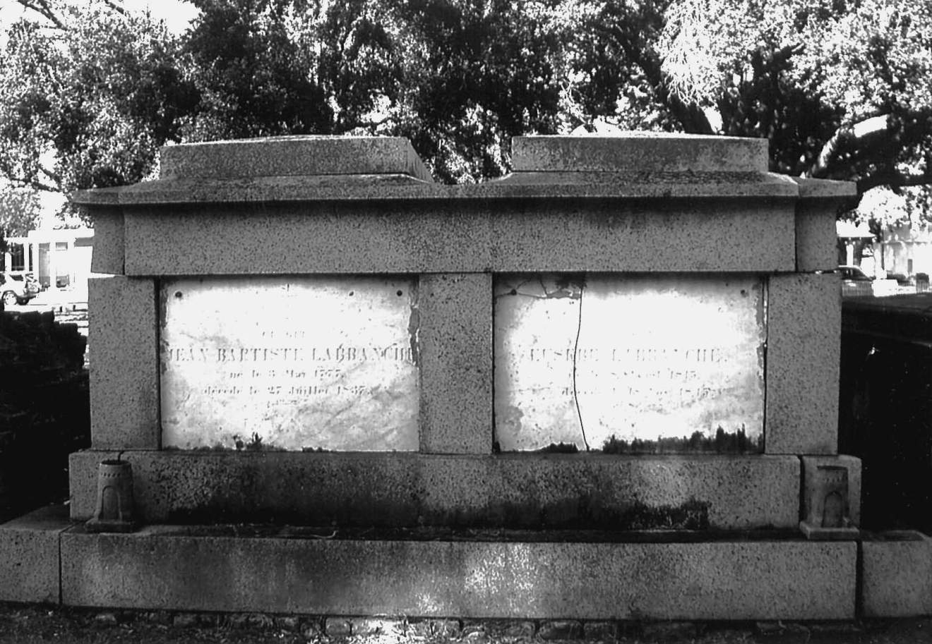 Gravesite of Jean Baptist LaBranche and Eusebe LaBranche