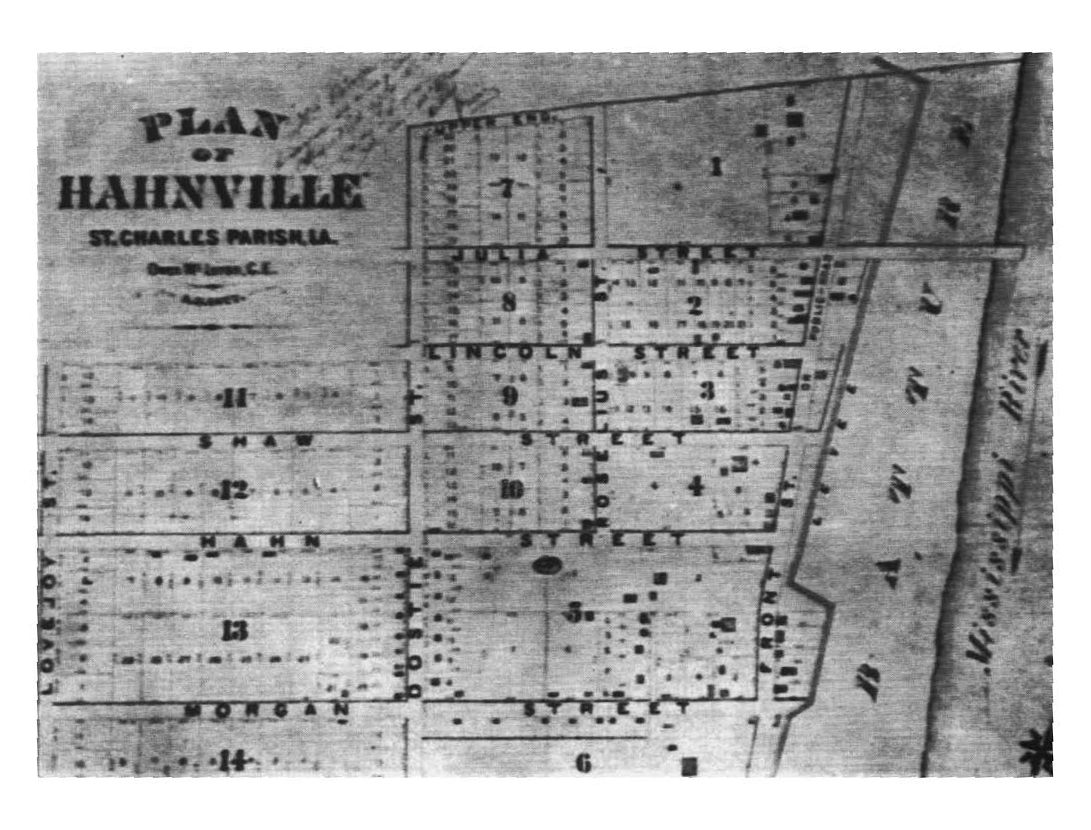Plot Map of Hahnville