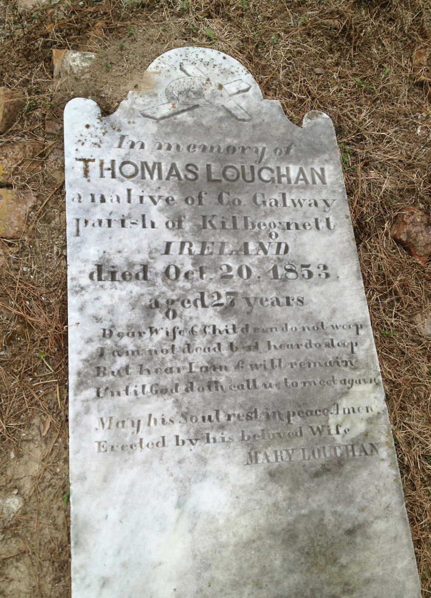 Grave Marker of Thomas Loughan