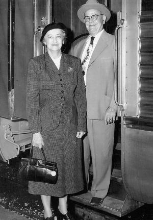 Couple Boarding the Train