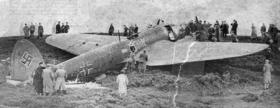 Heinkel He 111 crashed in Scotland