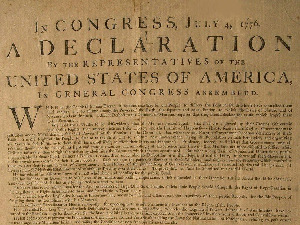 Declaration Of Independence Summary
