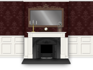 Rendition of a Victorian Fireplace