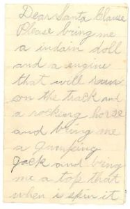 Letter to Santa from Earl, page 1