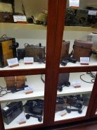 One of the exhibit cases at Ralph Simpson's Cipher History Museum