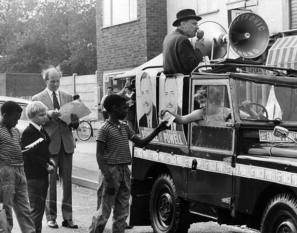 Enoch Powell campaigning in Wolverhampton, 1970