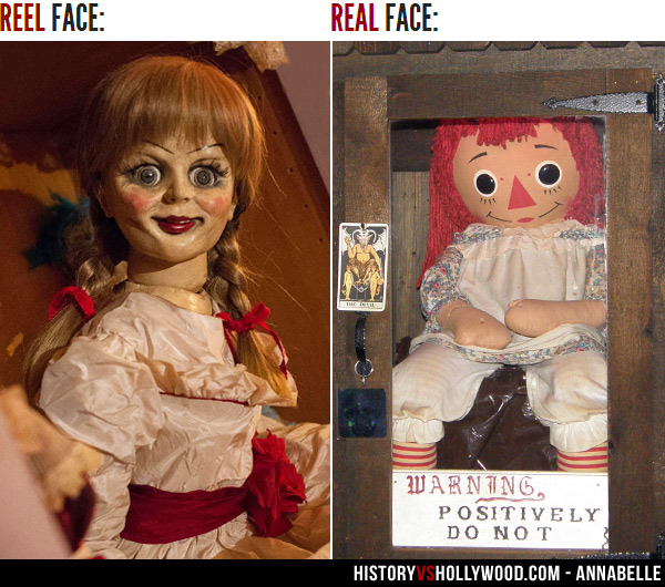 Annabelle Movie Doll and Real Annabelle Doll