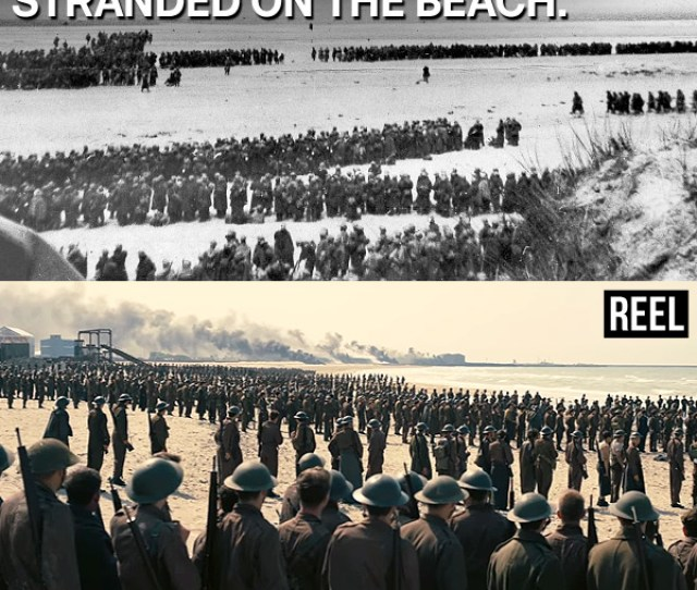 Thousands Of Soldiers Waiting On Dunkirk Beach
