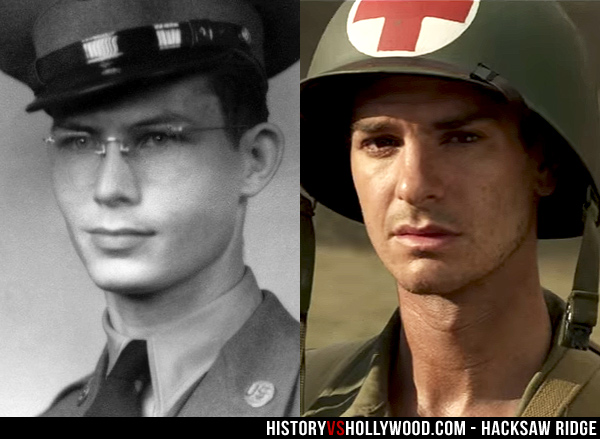 Desmond Doss and Andrew Garfield