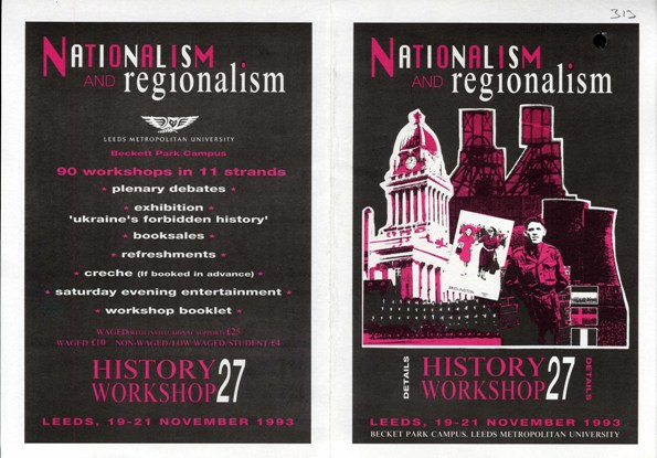 publicity for history workshop 27