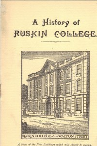 'A History of Ruskin College' brochure