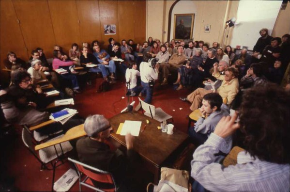 an image of the history workshop session at ruskin college during workshop 13 in 1979